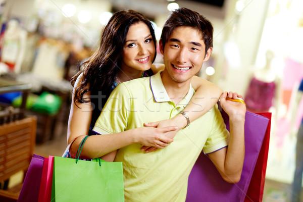 ショッピング カップル 肖像 笑みを浮かべて カム ストックフォト © pressmaster