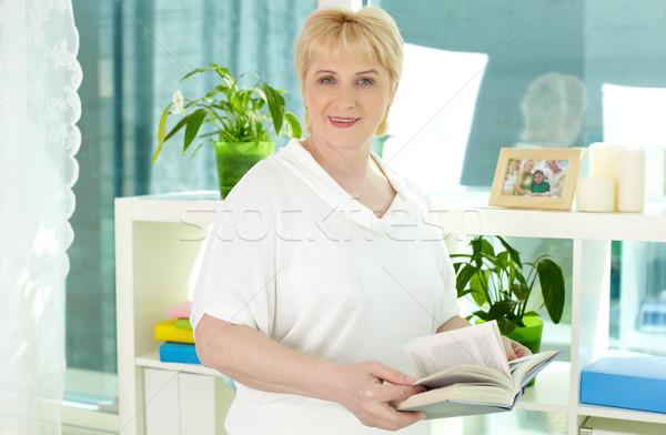 Woman with book Stock photo © pressmaster