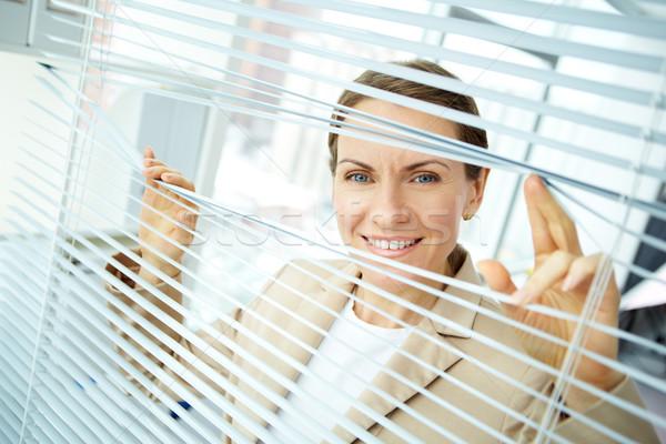 отдельно деловой женщины глядя камеры портрет работник Сток-фото © pressmaster
