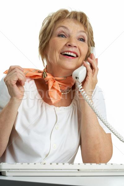Chamada senior feminino mulher feliz Foto stock © pressmaster