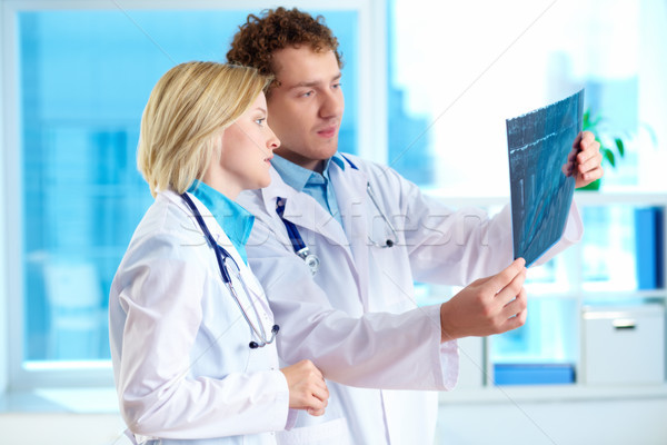 Looking at x-ray results Stock photo © pressmaster