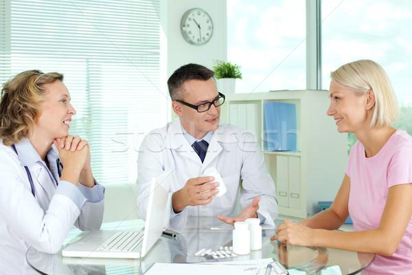 Stock fotó: Felajánlás · vitaminok · orvos · beteg · orvosi · konzultáció