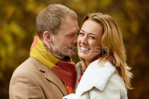Goede grap portret gelukkig vrouw lachend Stockfoto © pressmaster