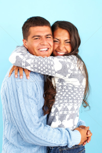 Couple in pullovers Stock photo © pressmaster