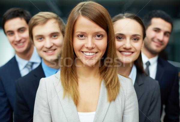 ストックフォト: リーダー · チーム · グループ · 優しい · 幸せ