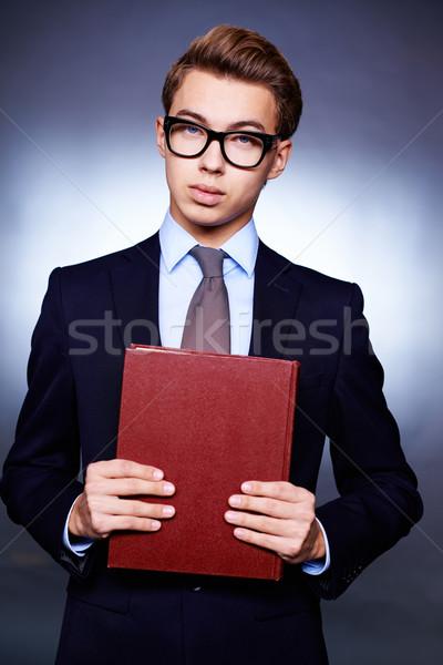 Jonge ambitieus verticaal portret jonge man elegantie Stockfoto © pressmaster