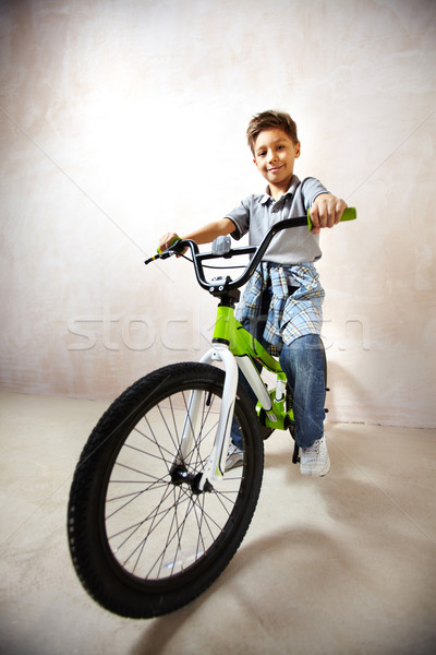 Lad on bike Stock photo © pressmaster