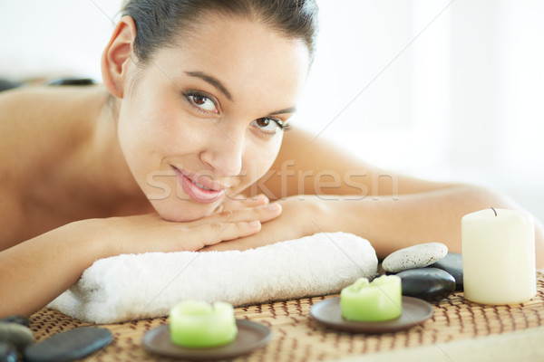 Keyifli portre genç kadın hazır Stok fotoğraf © pressmaster