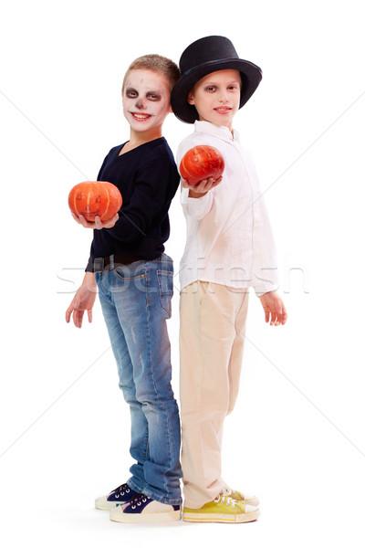 Halloween siblings Stock photo © pressmaster