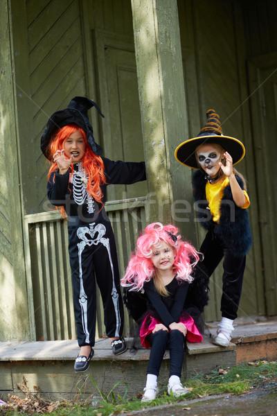 Celebrating Halloween Stock photo © pressmaster