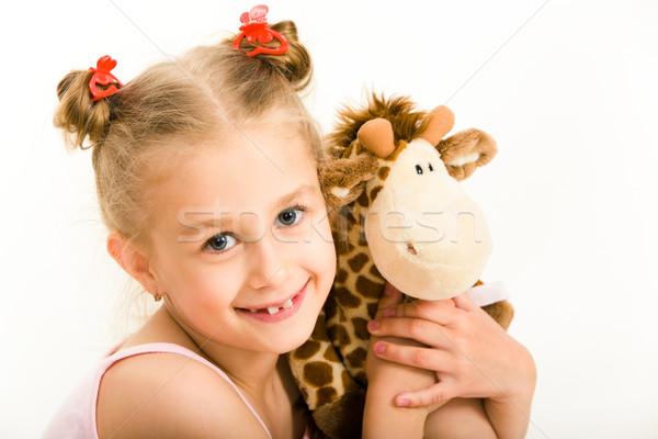 Girl with soft toy Stock photo © pressmaster