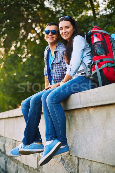 Couple in jeans Stock photo © pressmaster