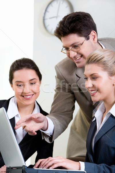 ビジネスチーム 上司 方法 分析 ストックフォト © pressmaster