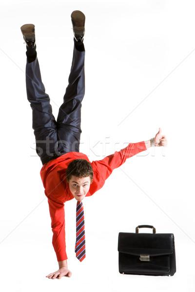 Teljes siker kép üzletember egy kar Stock fotó © pressmaster