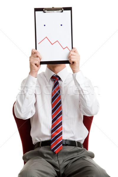 Confusion portrait patron papier Photo stock © pressmaster