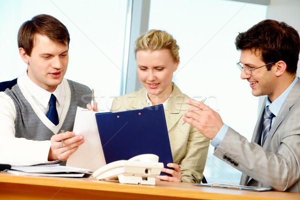 Foto stock: Foto · personas · reunión · negocios · mujer · oficina
