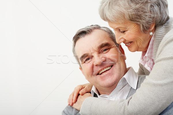 Gyengédség portré óvatos feleség átkarol férj Stock fotó © pressmaster