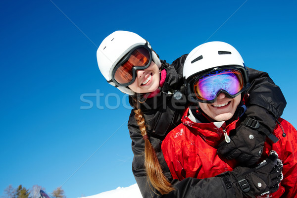 Couple of snowboarders Stock photo © pressmaster