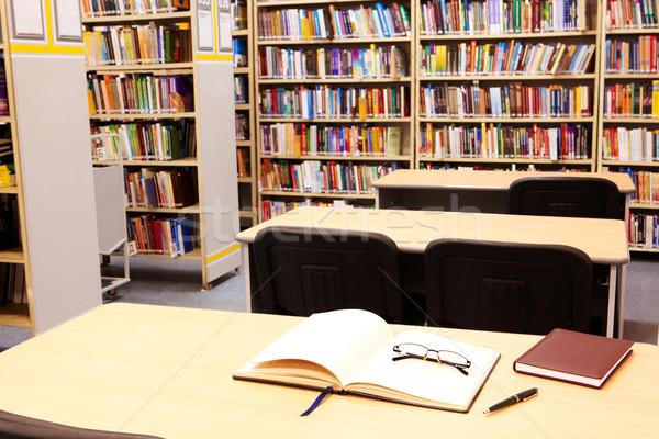 Foto stock: Lugar · de · trabajo · biblioteca · foto · moderna · universidad · otro