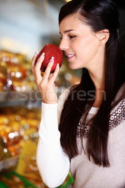Smelling apple Stock photo © pressmaster