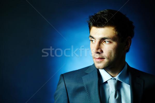 бизнесмен темноте портрет привлекательный мужчины глядя Сток-фото © pressmaster