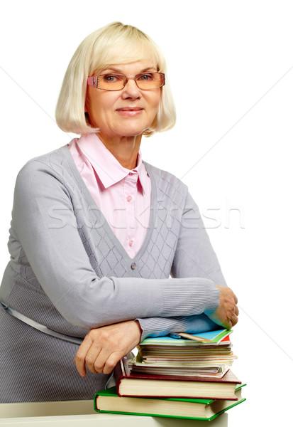 Bibliotecário bastante idoso senhora Foto stock © pressmaster