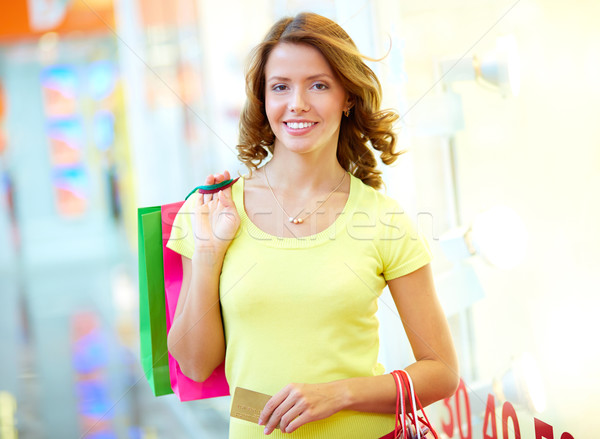 Stock photo: Weekend shopper
