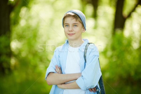 Feliz chico retrato cute casual ropa Foto stock © pressmaster