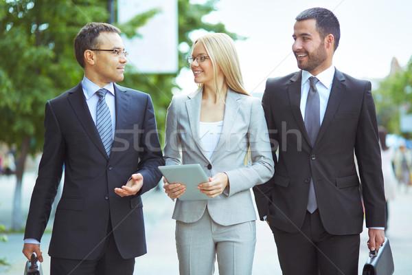 Zdjęcia stock: Działalności · komunikacji · obraz · przyjazny · zespół · firmy