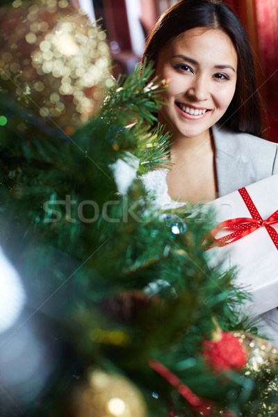 Woman by firtree Stock photo © pressmaster