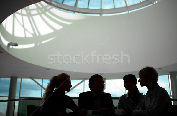 Interacción silueta gente de negocios negocios hombre empresario Foto stock © pressmaster