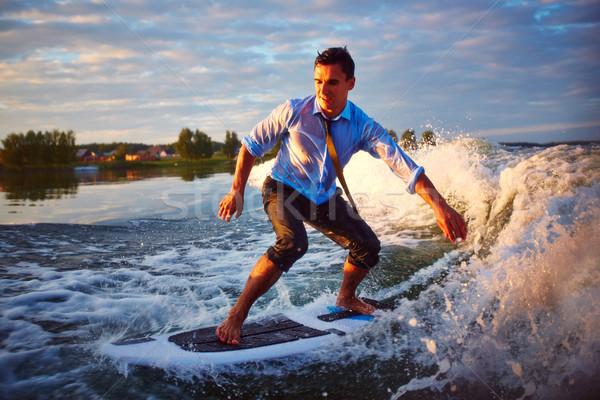 Avontuurlijk sport actief jonge man zomer resort Stockfoto © pressmaster