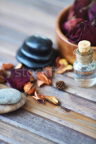 Schönheit Pflege Produkte Beauty-Produkte Holz Oberfläche Stock foto © pressmaster