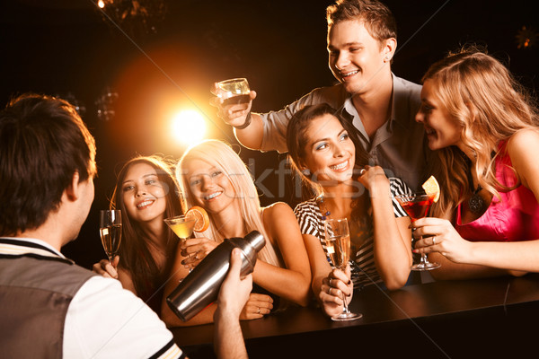 Stock photo: At the bar