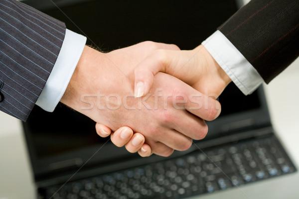 Foto handdruk business hand vergadering Stockfoto © pressmaster