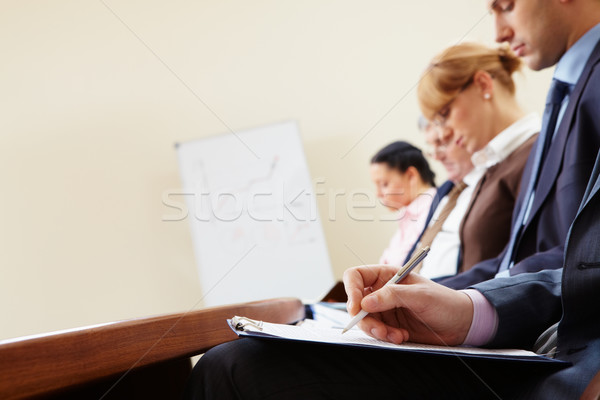 Zdjęcia stock: Napisany · pracy · ręce · dokumentów