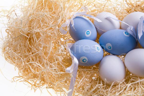 Stockfoto: Verscheidene · gekleurde · eieren · foto · paaseieren · ingericht