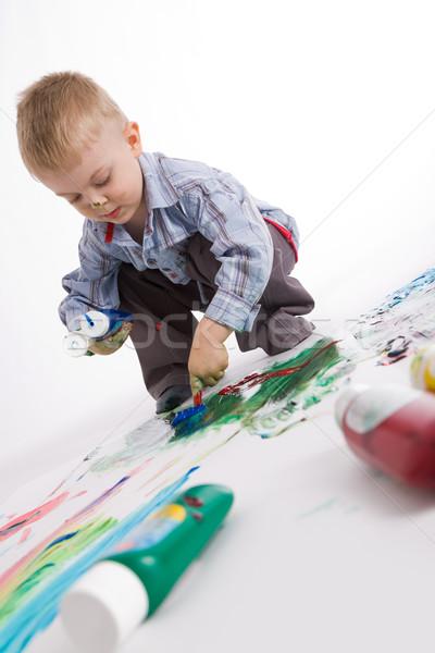 Painter at work Stock photo © pressmaster