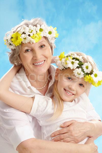 Granny and grandddaughter Stock photo © pressmaster