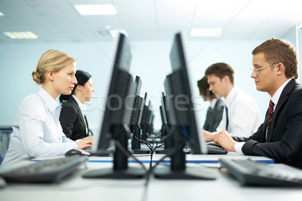 Rows of office workers Stock photo © pressmaster