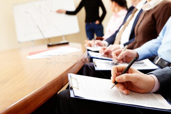 Business Seminar Geschäftsleute Hände halten Stock foto © pressmaster