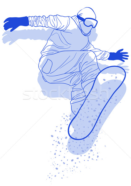Sautant homme sport art hiver Photo stock © pressmaster