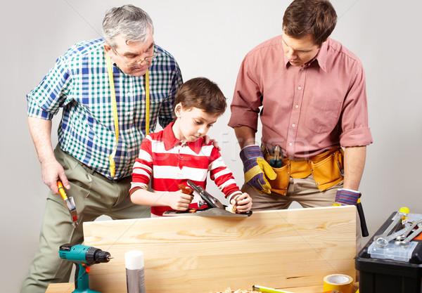 Young carpenter Stock photo © pressmaster