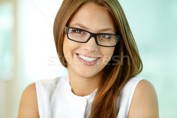 Stock fotó: Bájos · üzlet · lány · közelkép · portré · elegáns