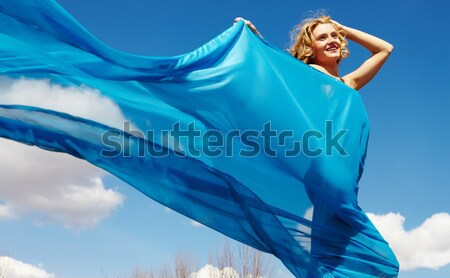 Woman in blue Stock photo © pressmaster