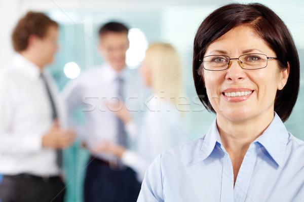 Dévoué équipe membre portrait souriant Photo stock © pressmaster
