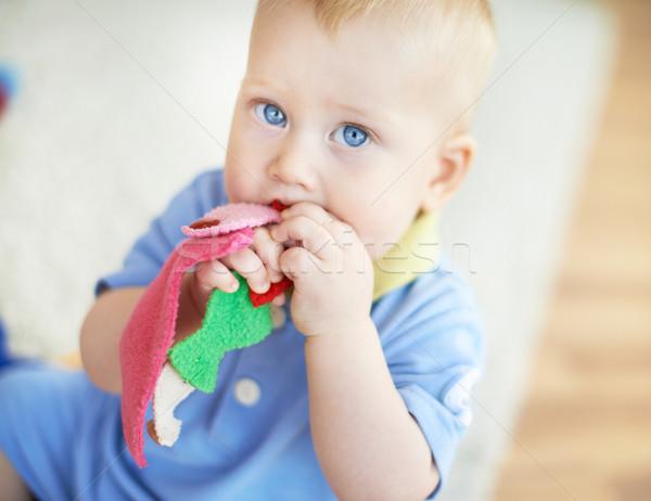 Sweet портрет Cute играет игрушку Сток-фото © pressmaster