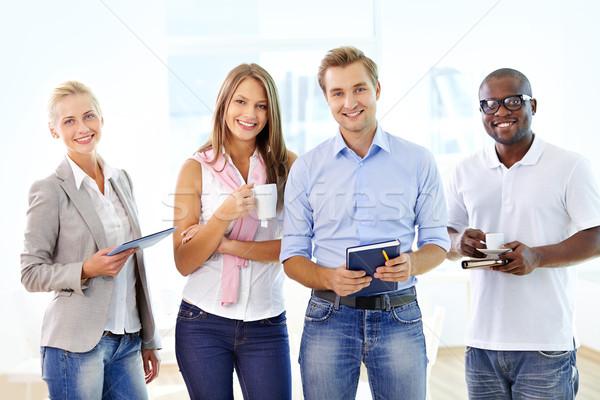 Positivo negócio retrato ambicioso pessoas de negócios sorridente Foto stock © pressmaster