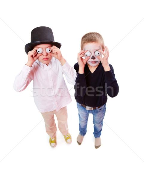 Scary foto due ragazzi Foto d'archivio © pressmaster