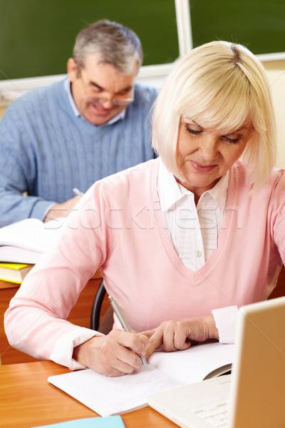 Seniors at lesson  Stock photo © pressmaster